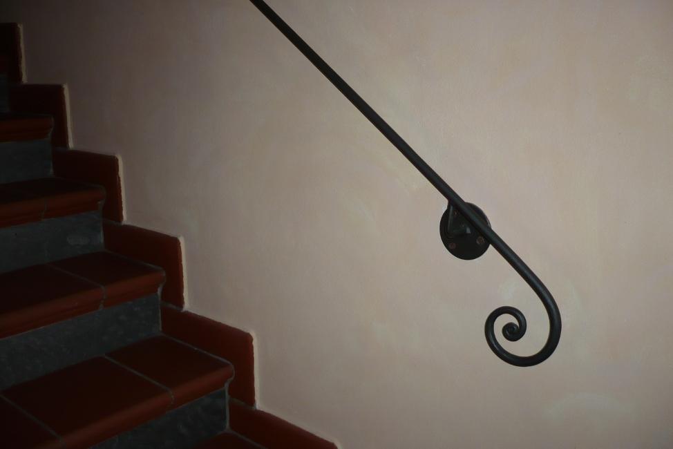 Realizzazione corrimano in ferro roma la fer pi - Corrimano scale esterne ...