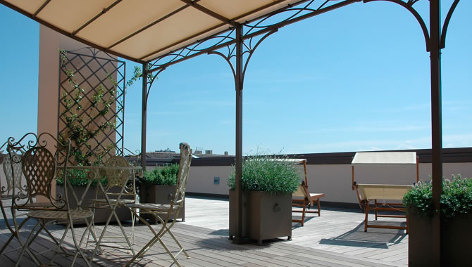 Realizzazione gazebo in ferro gazebo in ferro battuto gazebo in alluminio roma la fer pi - Gazebo da terrazzo ...