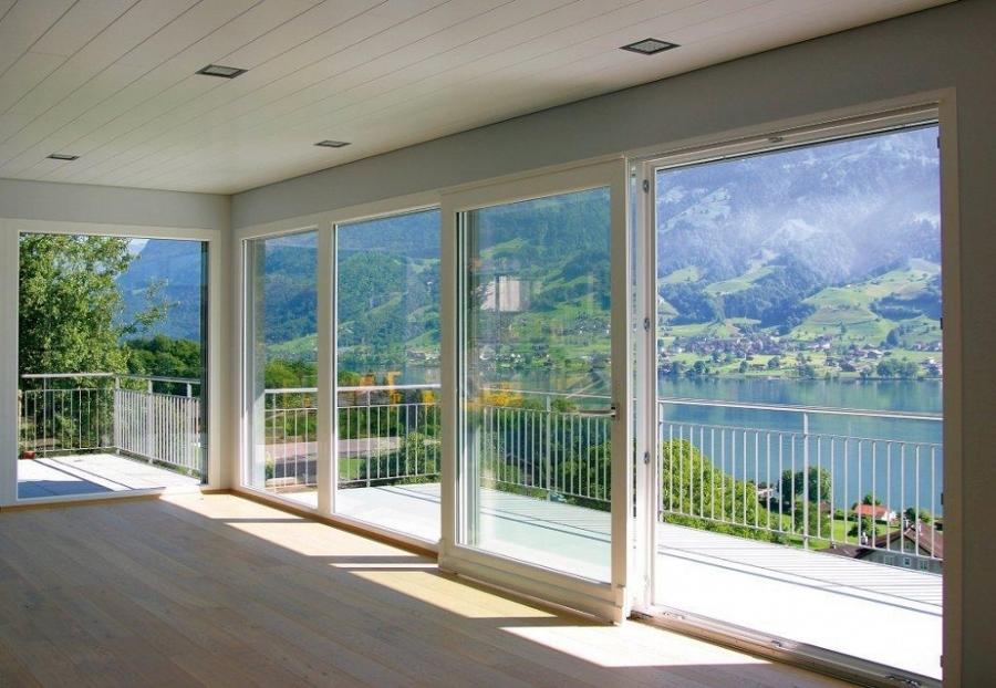 Finestre in alluminio roma produzione e installazione for Veranda con caminetto a gas schermato